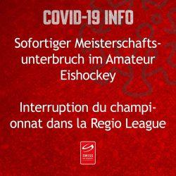 Meisterschaften im Amateur-Eishockey unterbrochen